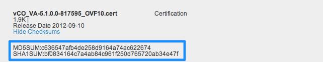 Verifying VMware Downloads · vNinja net