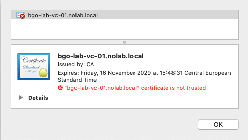 macOS Catalina Chrome SSL Warning