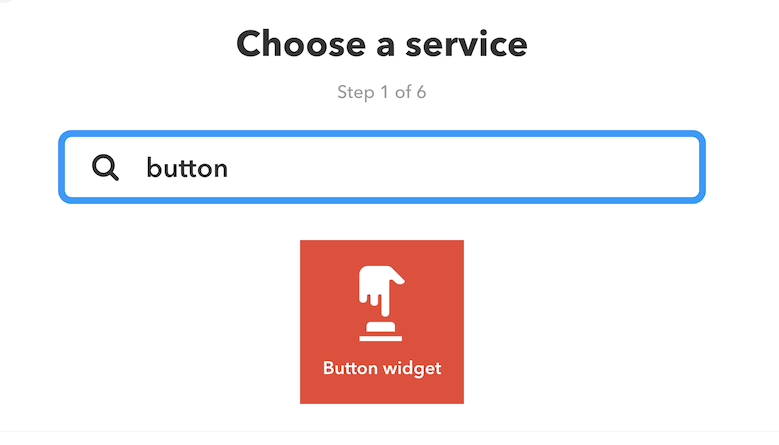IFTTT Button widget