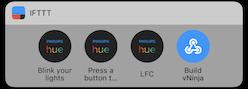 IFTTT Button widget on iPhone